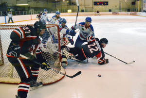 Photos by Brian Lockhart The Shelburne Muskies Senior AA team hosts the Durham Thundercats at the Centre Dufferin Recreation Complex for a Friday night game on October 23. The Muskies left the ice with an 8–5 win.